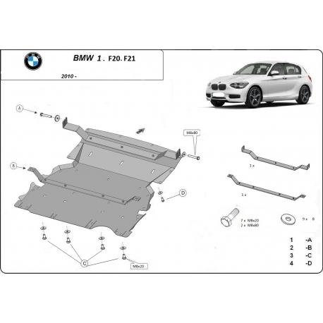 BMW f20 Unterfahrschutz - Stahl