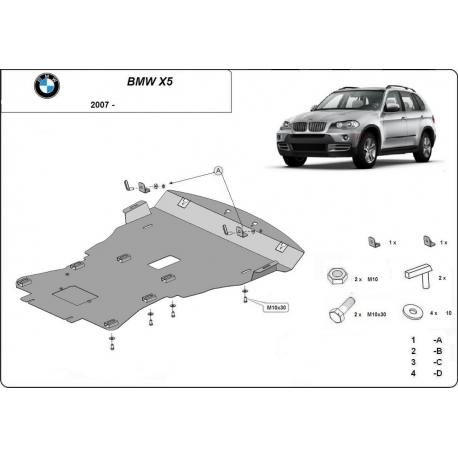 BMW X5 Unterfahrschutz - Stahl