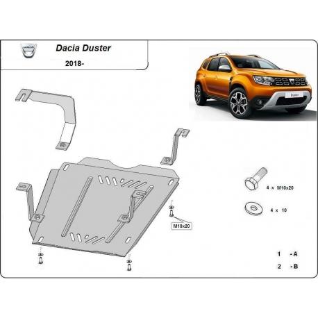 Dacia Duster Abdeckung unter dem Kraftstofftank - Stahl