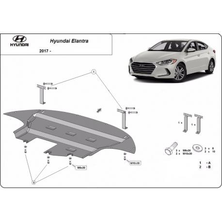 Hyundai Elantra Unterfahrschutz - Stahl