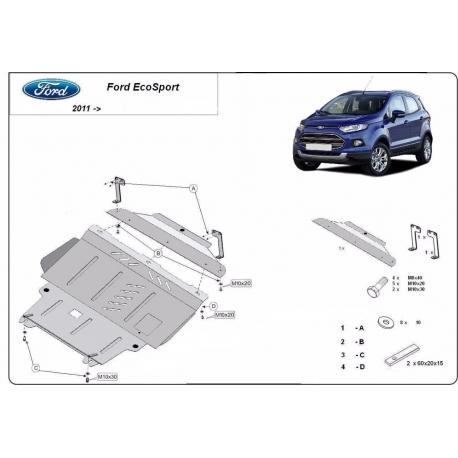 Ford EcoSport Unterfahrschutz - Stahl