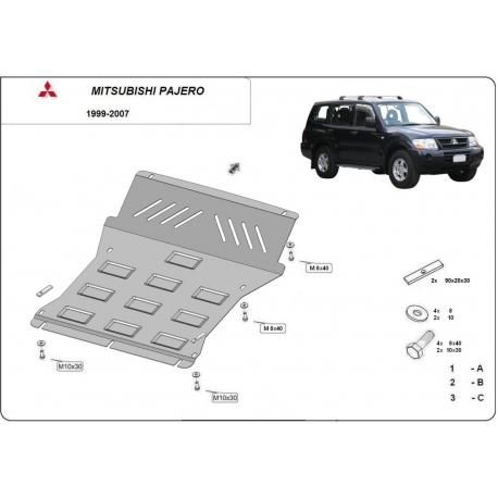 Mitsubishi Montero 3 Unterfahrschutz - Stahl