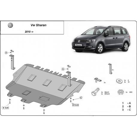 VW Sharan Unterfahrschutz - Stahl
